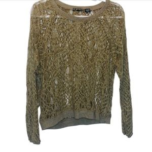 Miss Me | Open Knit Top | Size Small